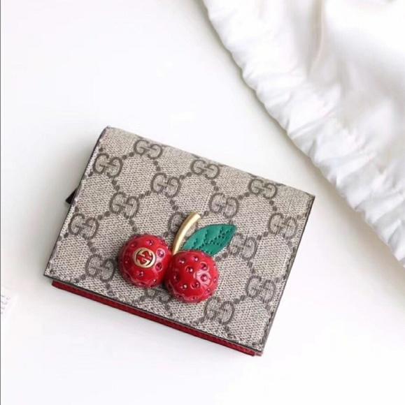 Gucci Handbags Cherries Card Case